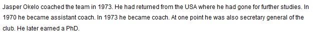Jasper Okelo Gor Mahia's second coach