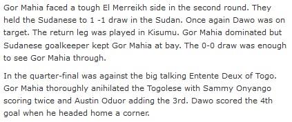 Gor Mahia vs El Merreikh