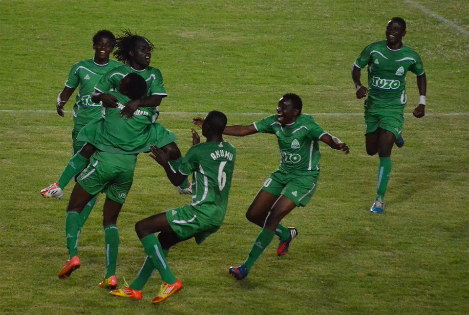 Gor Mahia celebrate against Sofapaka
