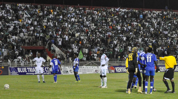 Gor Mahia vs Sofapaka in a midweek encounter in 2010